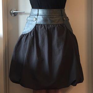 Danier Leather Waist Pleated Skirt